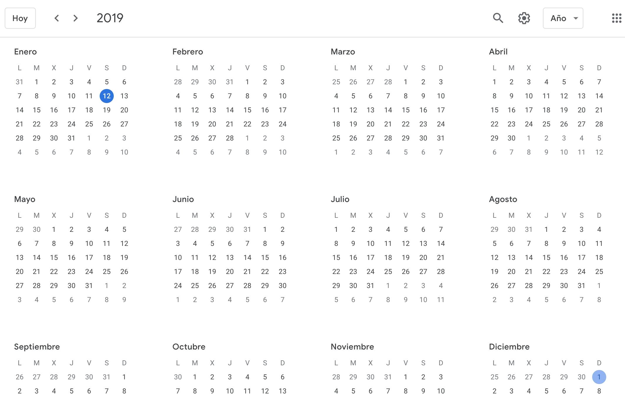 1 Year Calendar View | Ten Free Printable Calendar 2020 2021 Inside Google Calendar 2021 Sign In Page