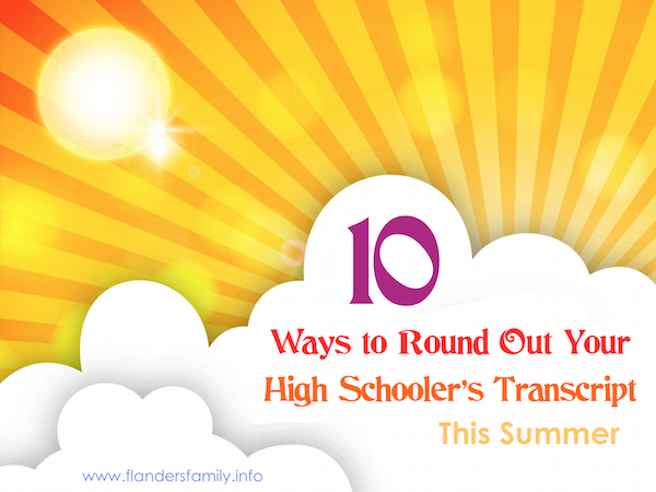 10 Ways To Round Out Your High Schooler'S Transcript Throughout Sample Year Round School Calendar