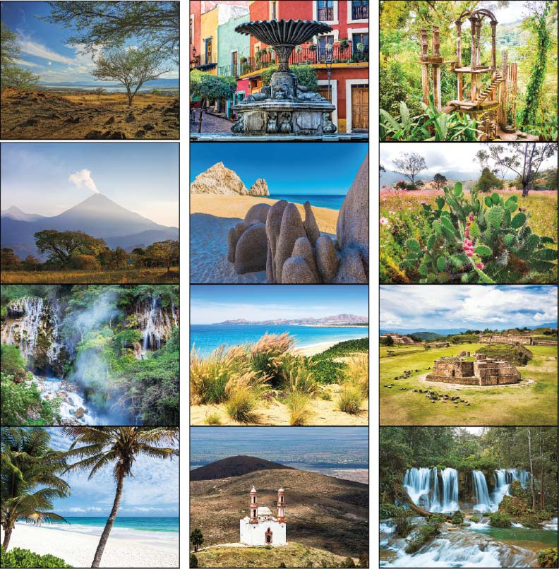 13 Month Mexico Wall Calendar  C7287 Throughout Mexican Calendars With Day Suggested Names