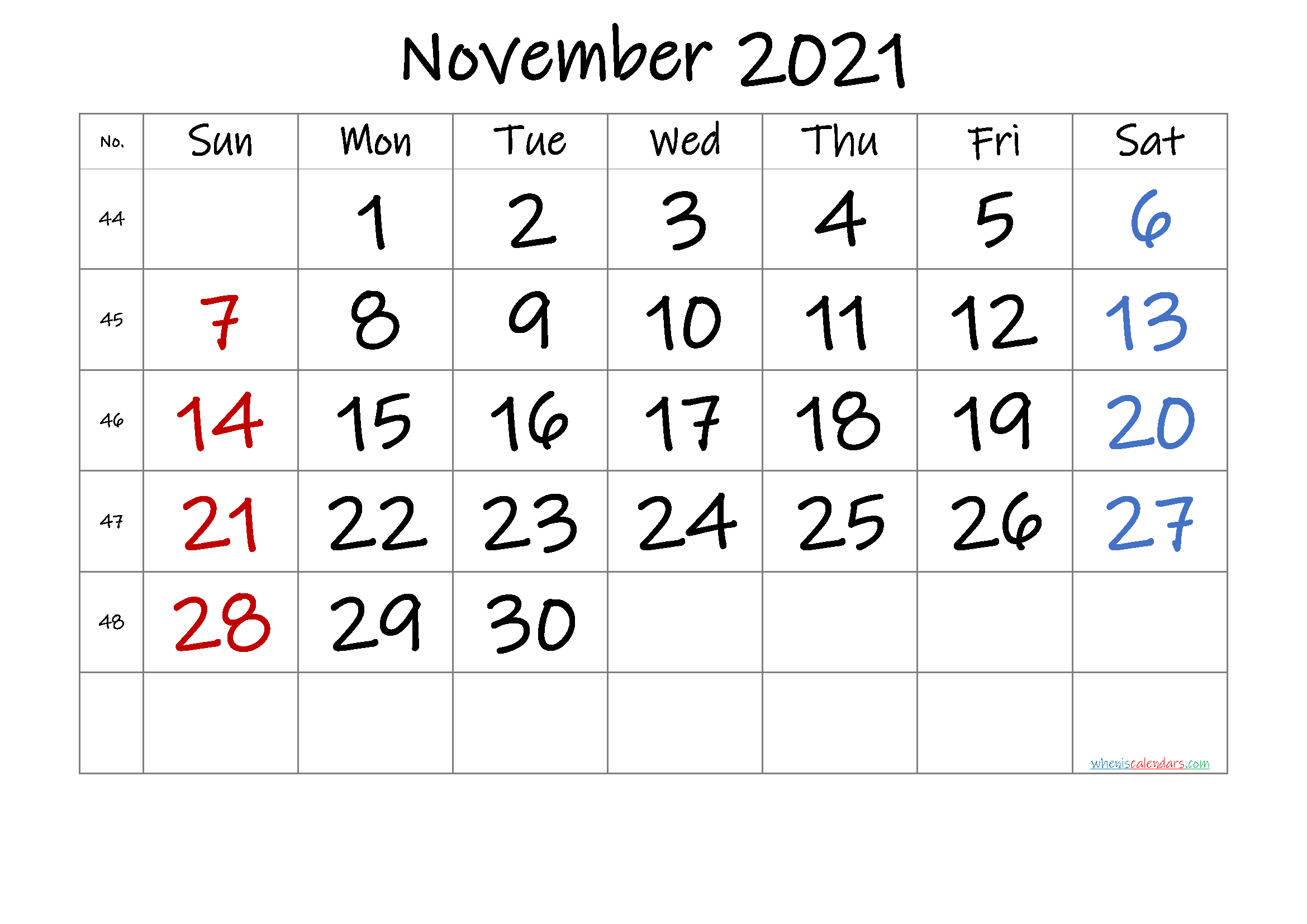 20+ November 2021 Calendar – Free Download Printable Throughout Printable Sunrise Sunset Calendar 2021