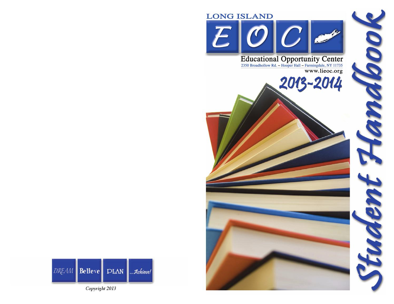 2013 14 Student Handbook Finaletcenter Lieoc – Issuu In Farmingdale State College Spring Break