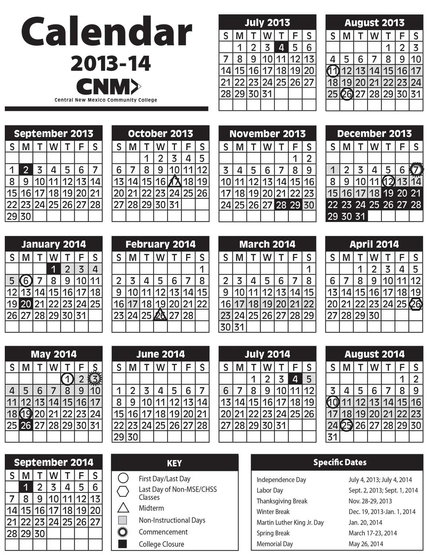 2013 2014 Academic Calendar Image Within Gcu 2014 Academic Calendar