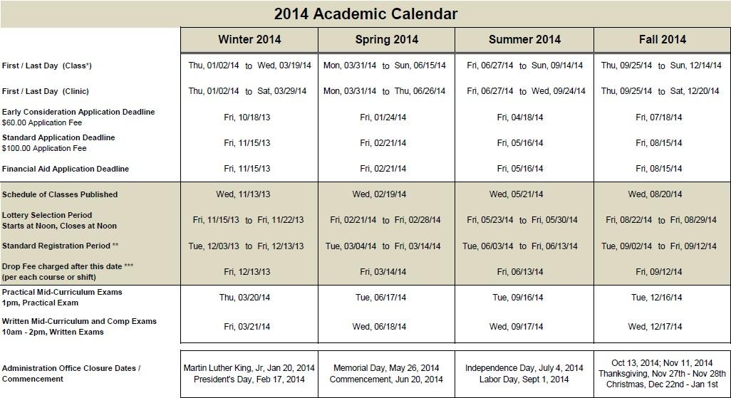 2014 Mtom Academic Calendar Cropped With Regard To Gcu 2014 Academic Calendar