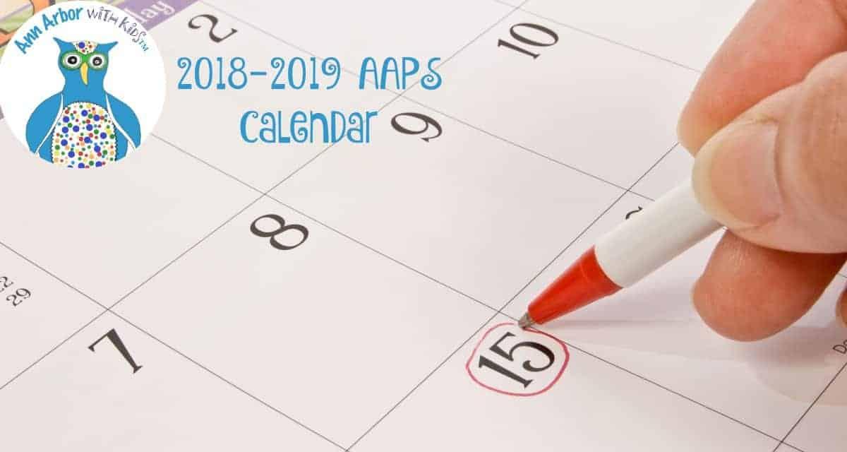 2018 2019 Ann Arbor Public Schools Calendar | Ann Arbor Within Alachua County Public School Spring Break