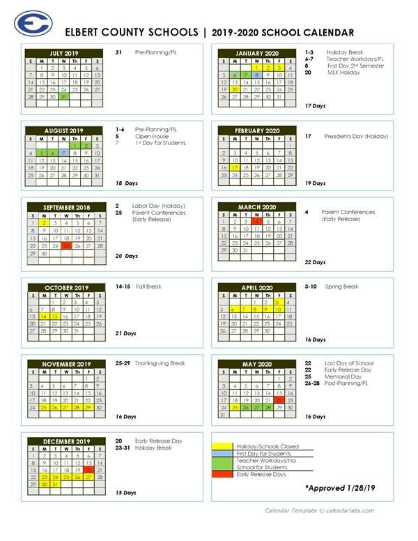 2019 2020 Academic Calendar / Home Inside Georgia State University Semester Calendar