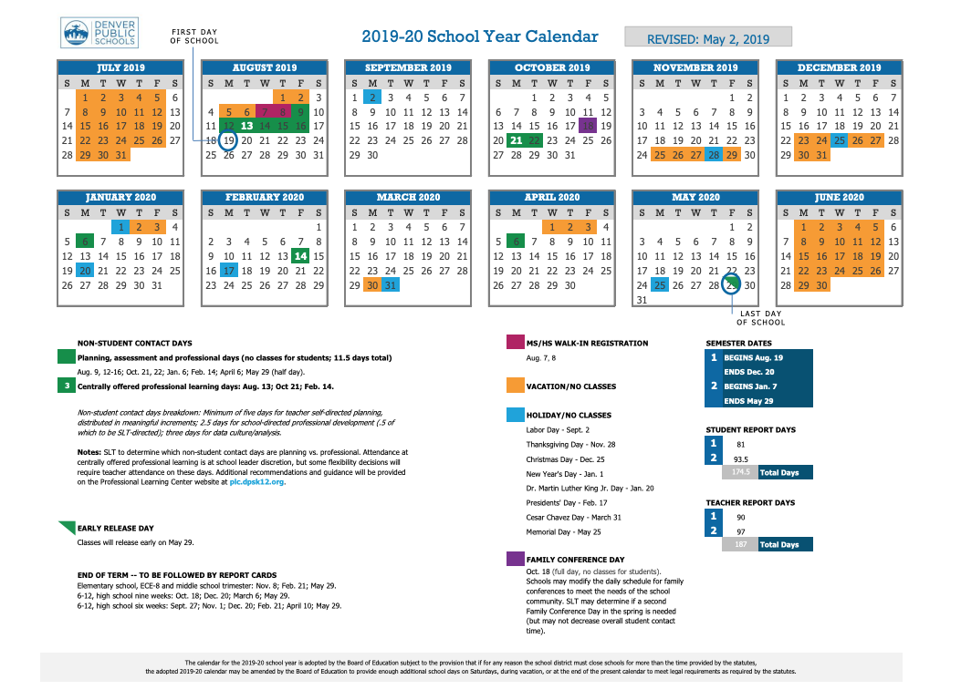 2020 Modified Traditional Instructional Calendar 2020 Lodi For Durham Public Schools Calendar