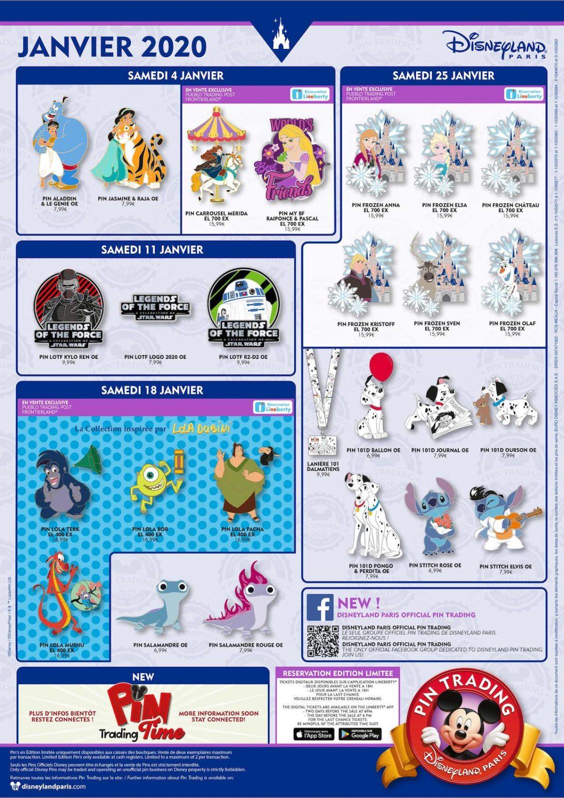 2020 Pin Releases | Page 4 | Disney Pin Forum Inside Disneyland Paris 2020 Calendar