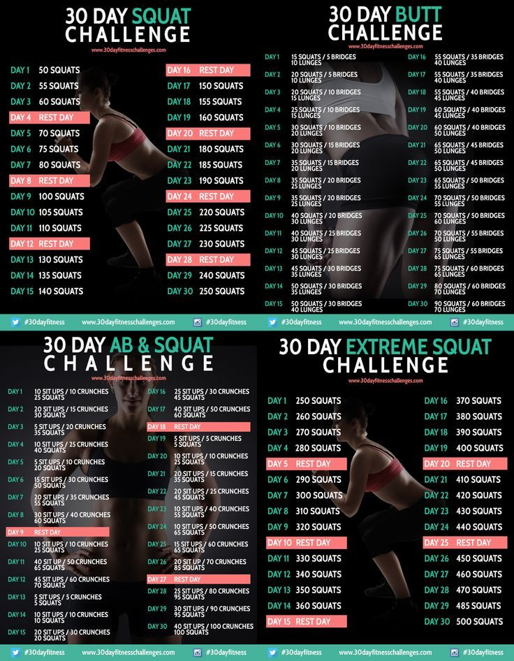 21 Best My 30 Day Fitness Challenges (Really.they'Re Within 30 Day Thigh Challenge Printable