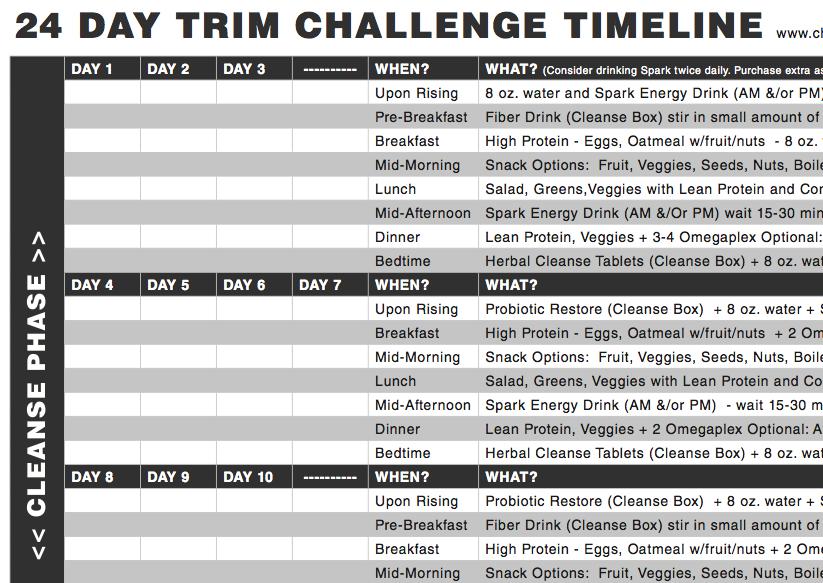 24 Day Challenge Timeline | Advocare 24 Day Challenge, 24 With Advocare 24 Day Challenge Printables