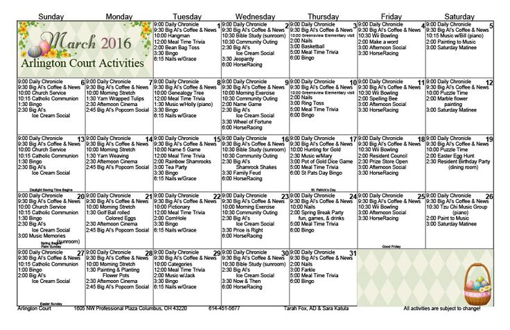 36 Best Other Activity Calendars Images On Pinterest Regarding Individual Activity Calendars For Senior Citizens
