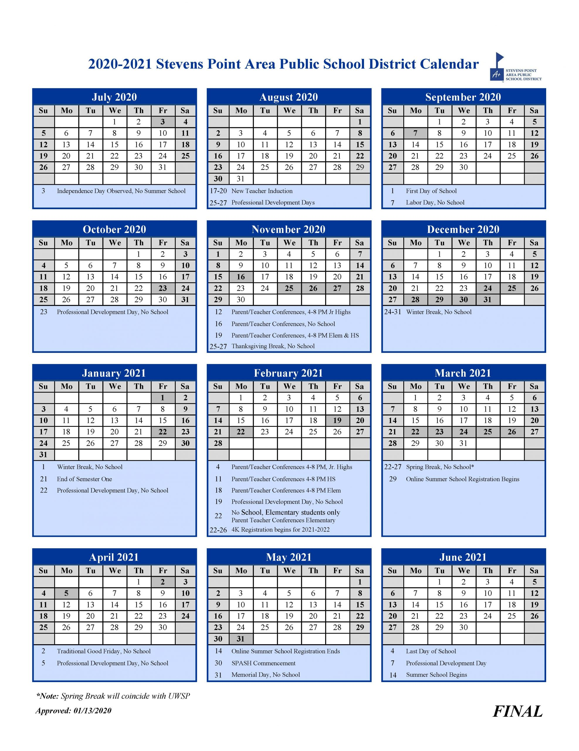 4K / 4K Frequently Asked Questions Within Stevens Point School District Calendar 2021