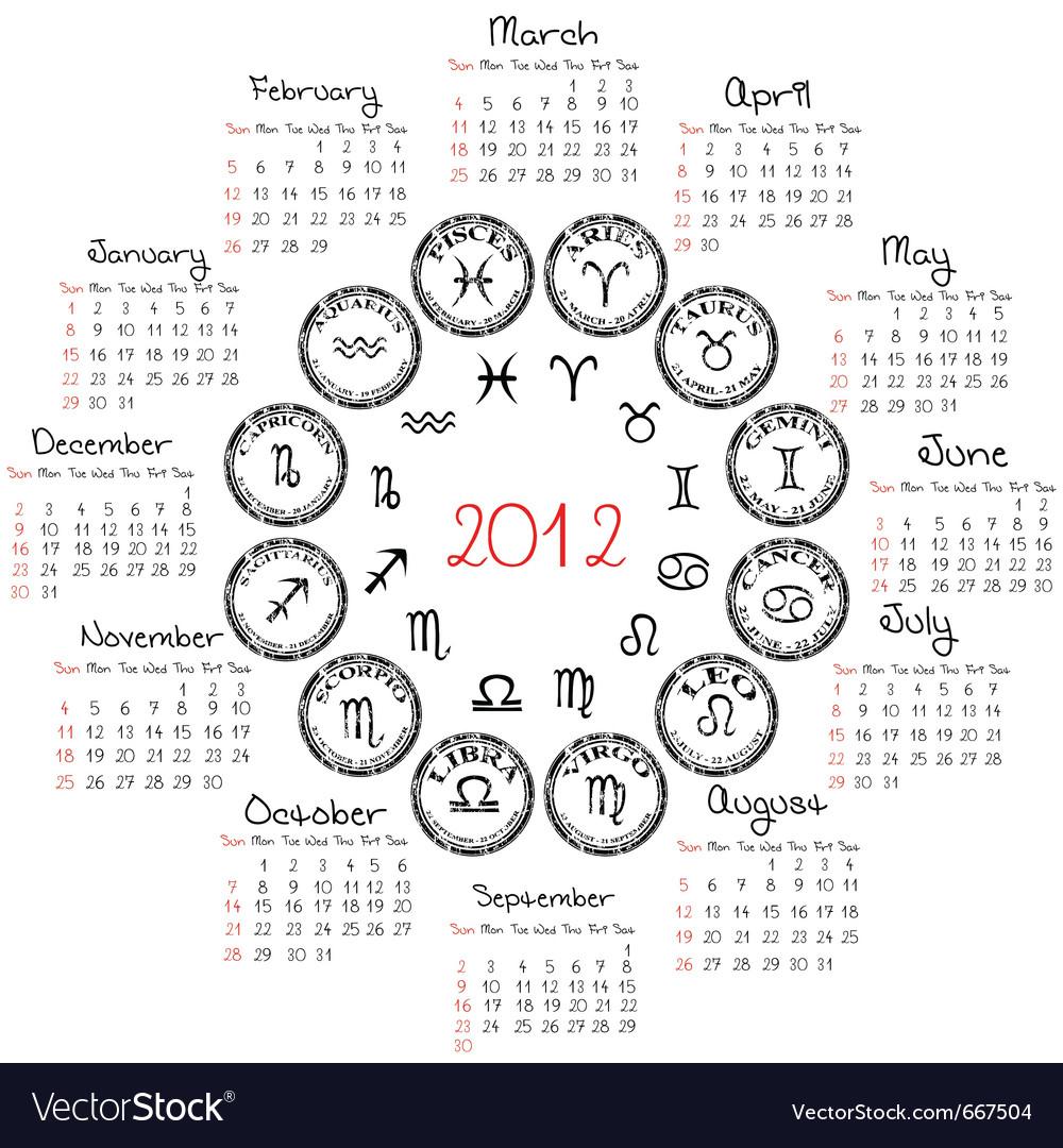 5 Days In Zodiac Calendar | Calendar Printables Free Templates Within Good Days Horoscope Calendar