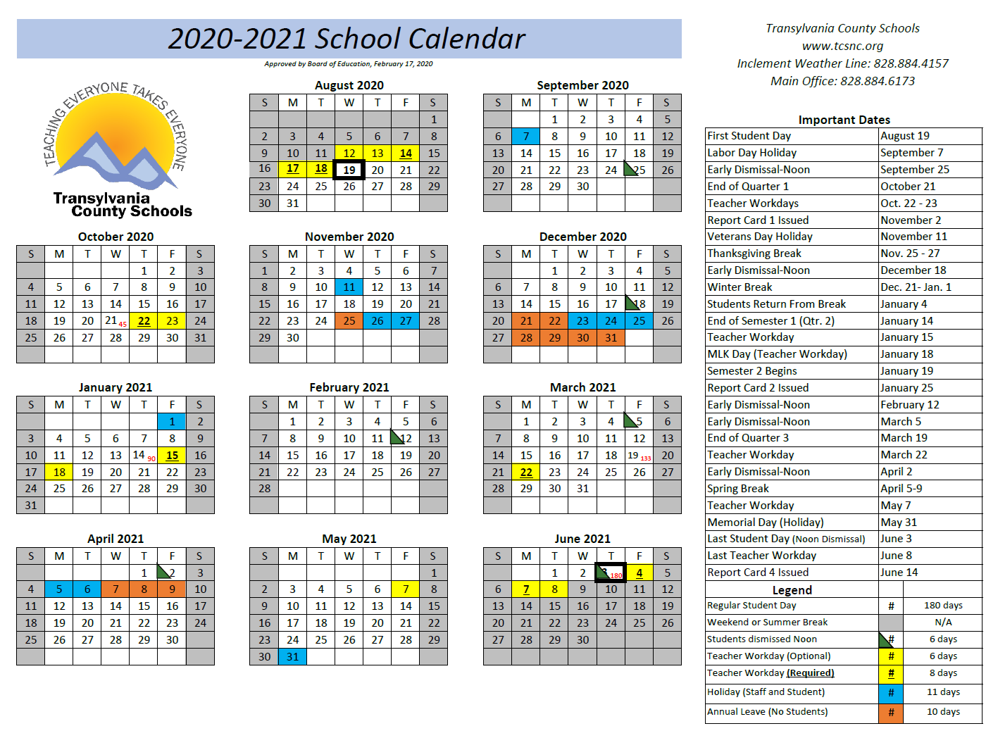 Academic Calendar 2020 21 & Important 2020 Events Intended For Tehama County Office Of Education 2021  2021 Calendar
