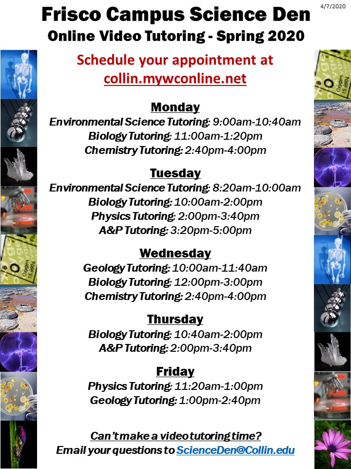 Anthony Peterson Center For Academic Assistance - Collin Within Collin College Semester Calendar