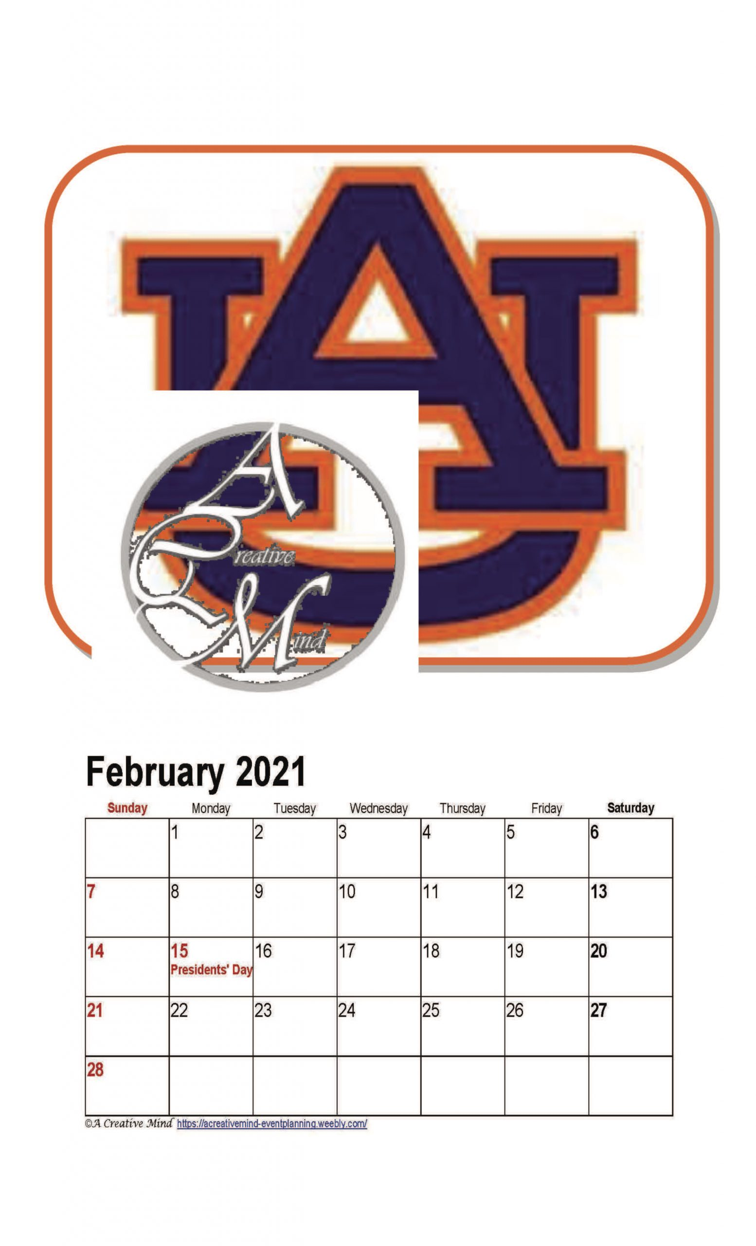 Auburn University 2021 Wall Calendar Pertaining To University Of Phoenix 2021 Calendar