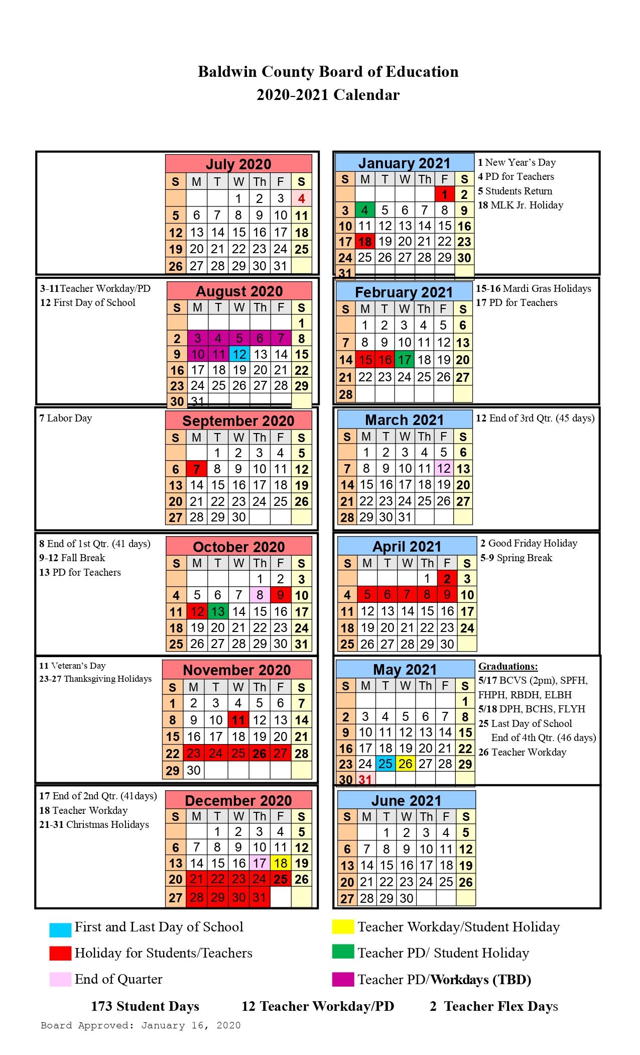 Baldwin County Public School District Calendar Archives With Tehama County Office Of Education 2021  2021 Calendar