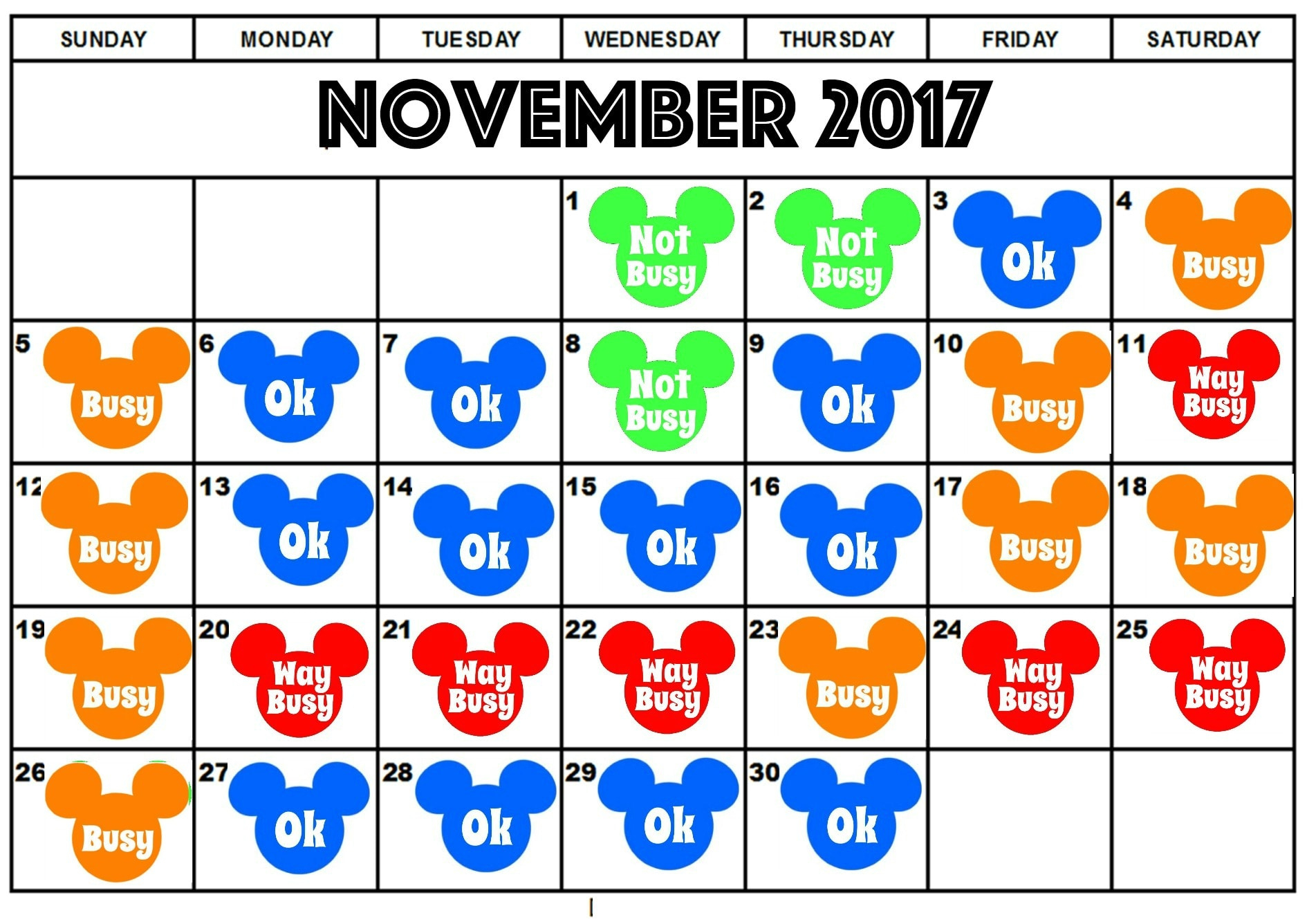 Best Days To Visit Disneyland In 2017 – The Mommy Mouse With Regard To Is It Packed Disneyland Calendar