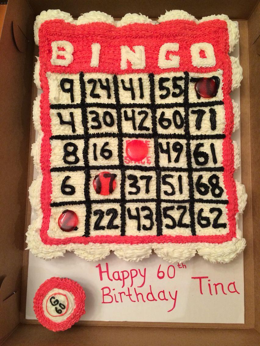 Bingo! Board Cupcake Cake | Pull Apart Cupcake Cake For Bingo At Turning Stone March 13