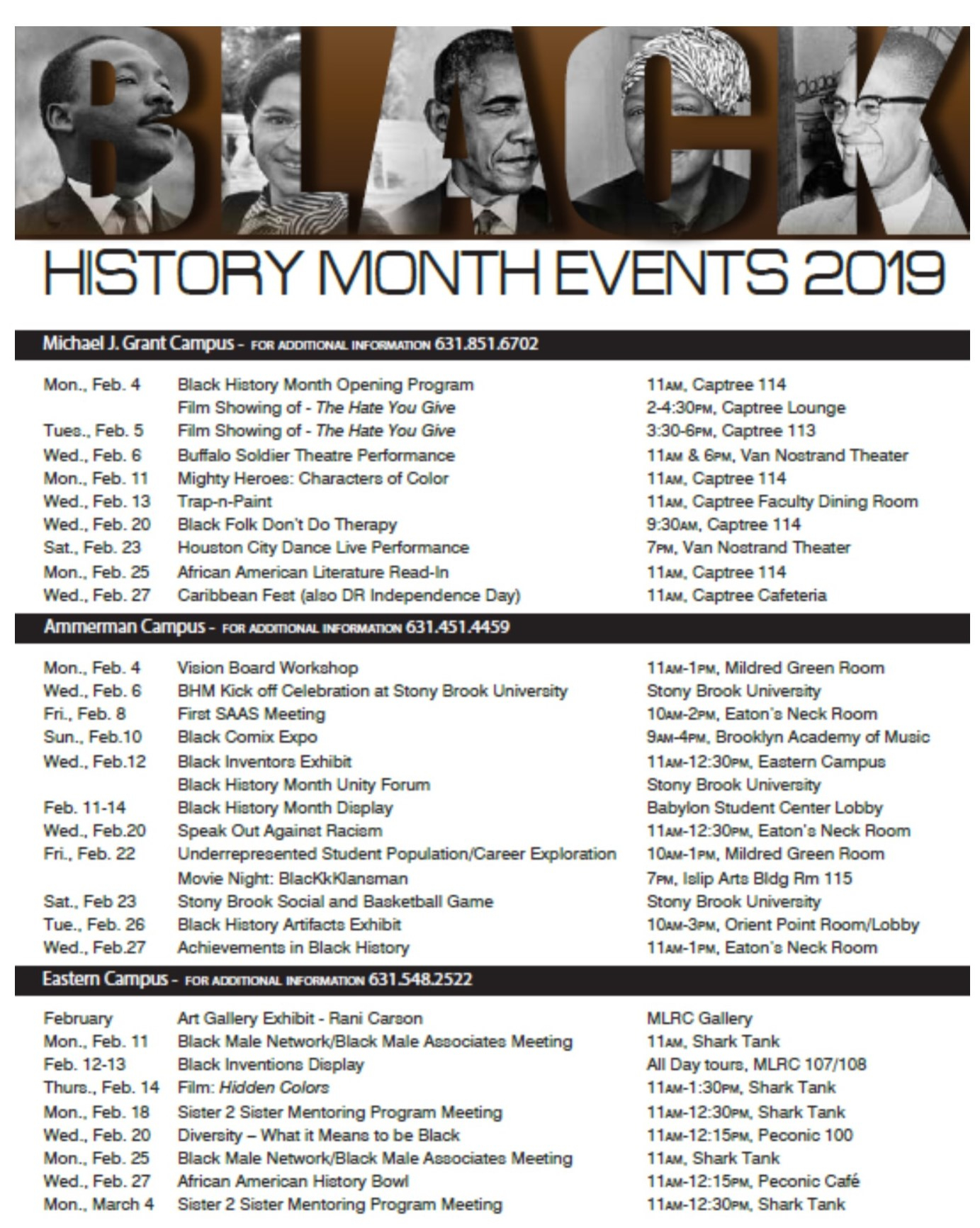 Black History Month At Suffolk County Community College Throughout Suffoolk Community College Calendar