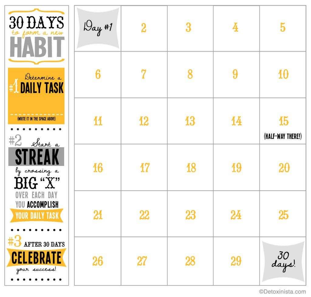 Blank 30 Day Fitness Calendar | Printable Calendar 2020 2021 Throughout 30 Day Fitness Calendar Printable
