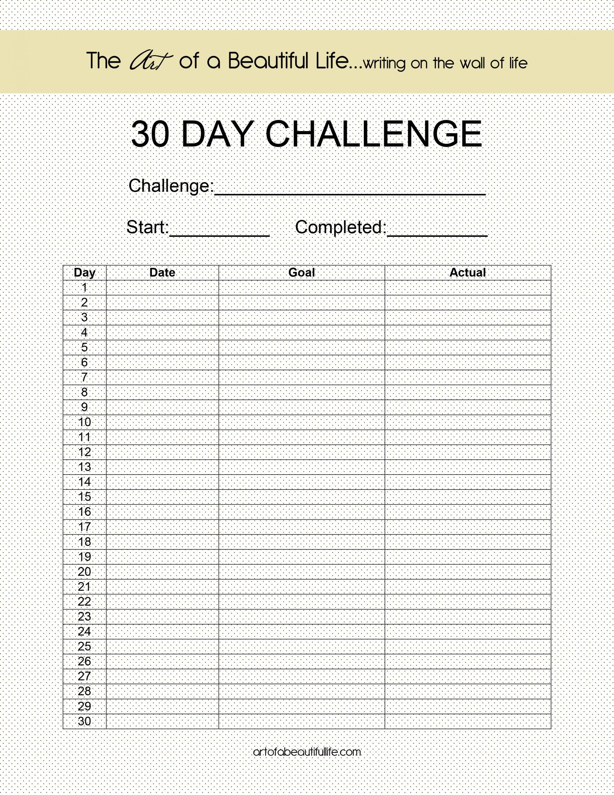 Blank 30 Day Fitness Calendar | Printable Calendar 2020-2021 within 30 Day Fitness Calendar Printable