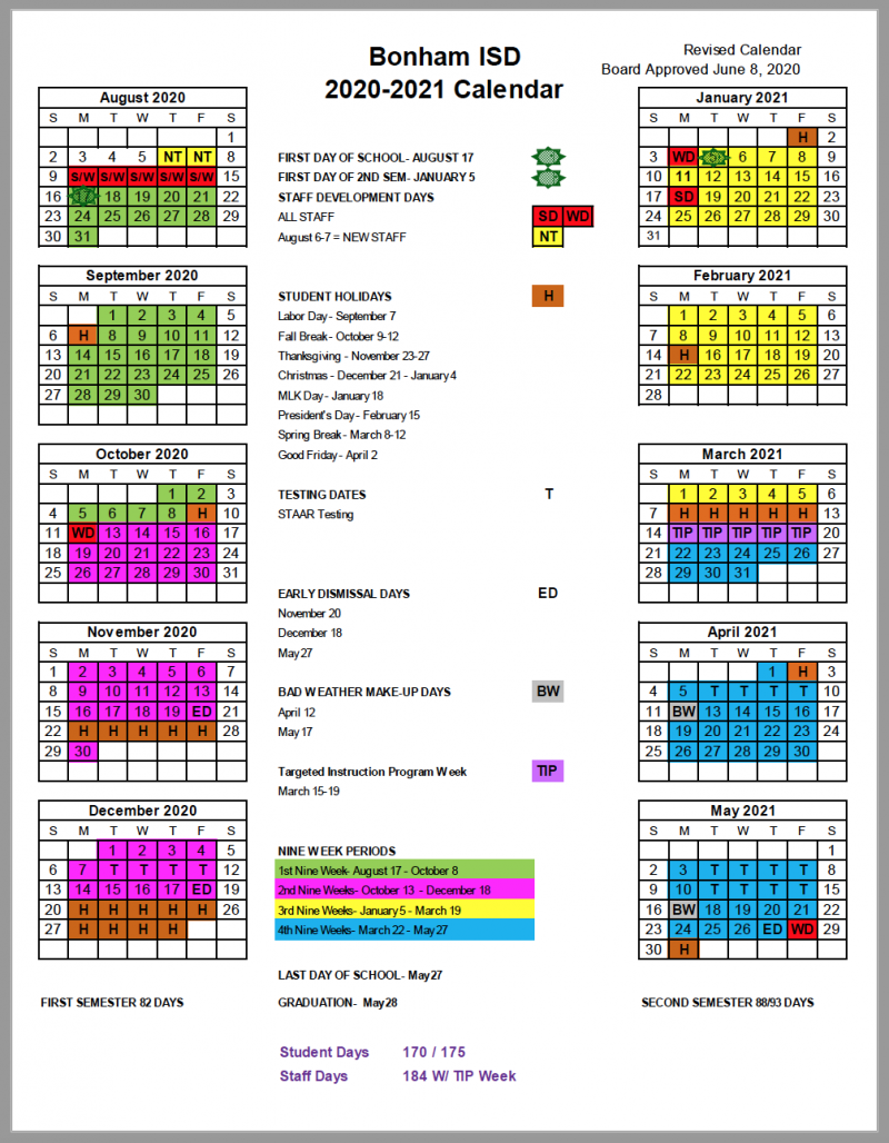 Board Approves 2020 2021 School Calendar – Brazosport With Pertaining To Brownsville Tx School Calendar