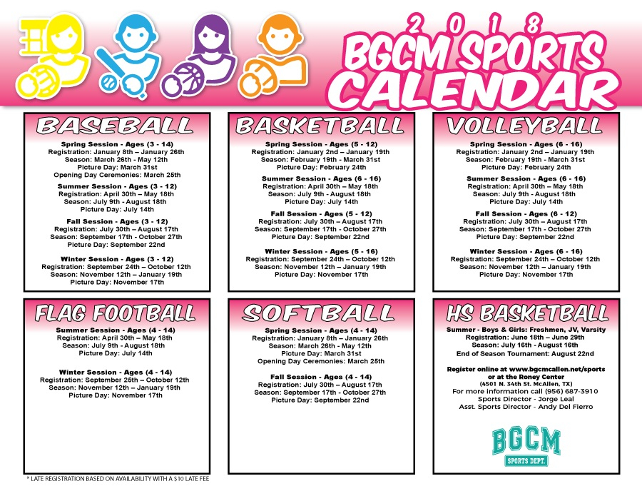 Boys & Girls Club Of Mcallen With Regard To Talent Boys And Girls Club Calendar