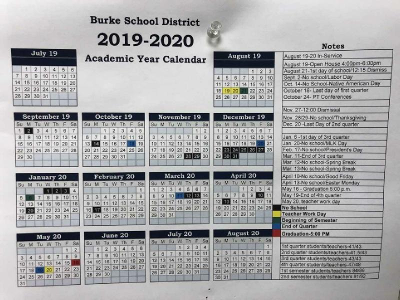 Burke Public School With Woodbridge Township School District Student Calender2021 2020 School Year