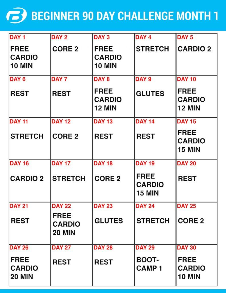 Burton Nutrition 90 Day Challenge Workouts And Create A In Supreme 90 Day Workout Schedule