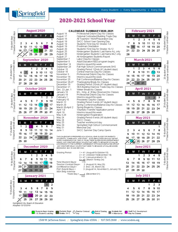 Calendar / 2020 2021 School Calendar Within Woodbridge Township School District Student Calender2021 2020 School Year