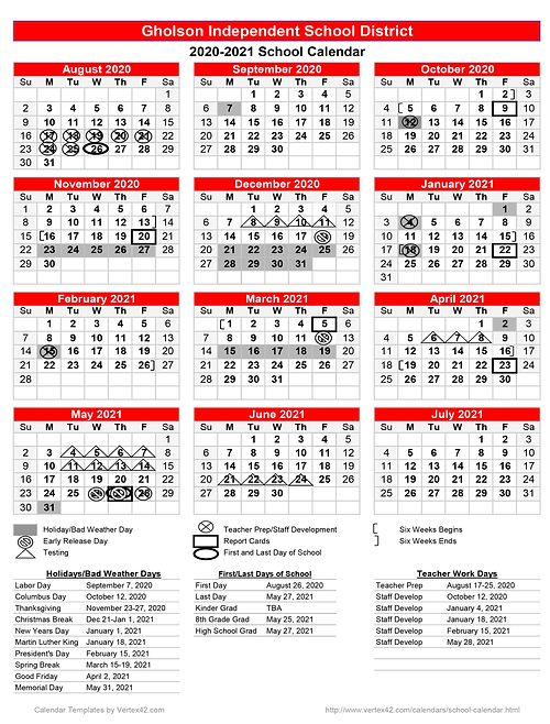 Calendar | Gholsonisd For Shelby County Al Public School Calendar 2021 2021