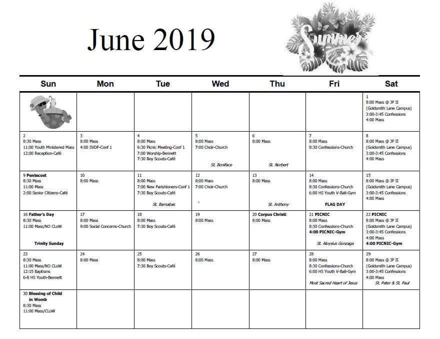 Calendar – Saint Martha Catholic Church Inside Catholic Saint Of The Day Calendar
