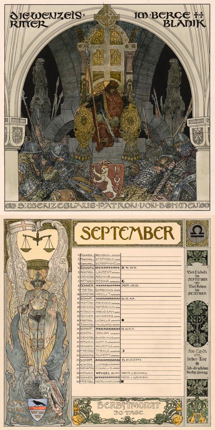Calendar Sheets For September Depicting Saint Wenceslaus I Inside How Many Saints In Saint Of The Day Calendar