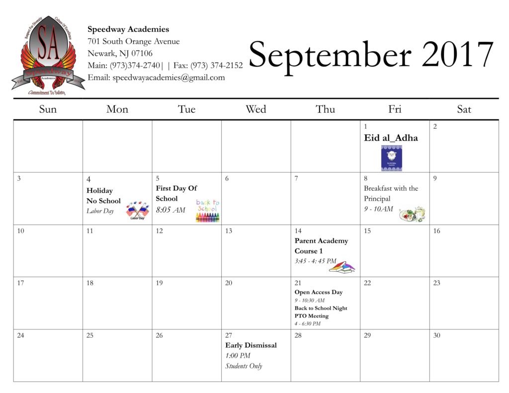 Calendar – Speedway Academies In Jersey City School Calendar 2021