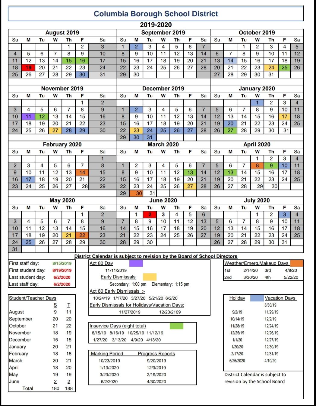 Columbia County School Calendar 2020   Free Printable Calendar For Georgia State 2020 School Calendar