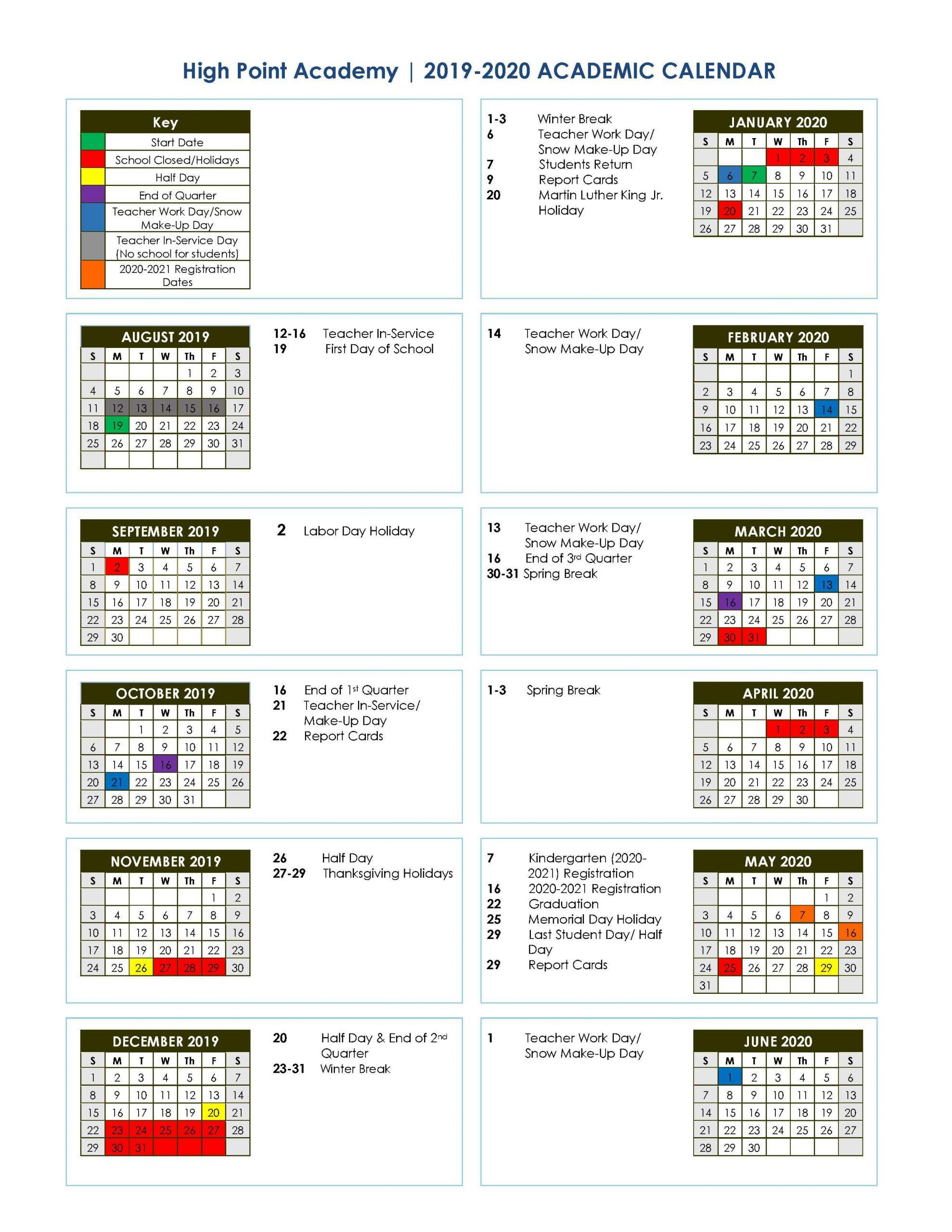 Corinth Ms School District 2019 2020 Academic Calendar Intended For Franklin Central High School Calendar 2020