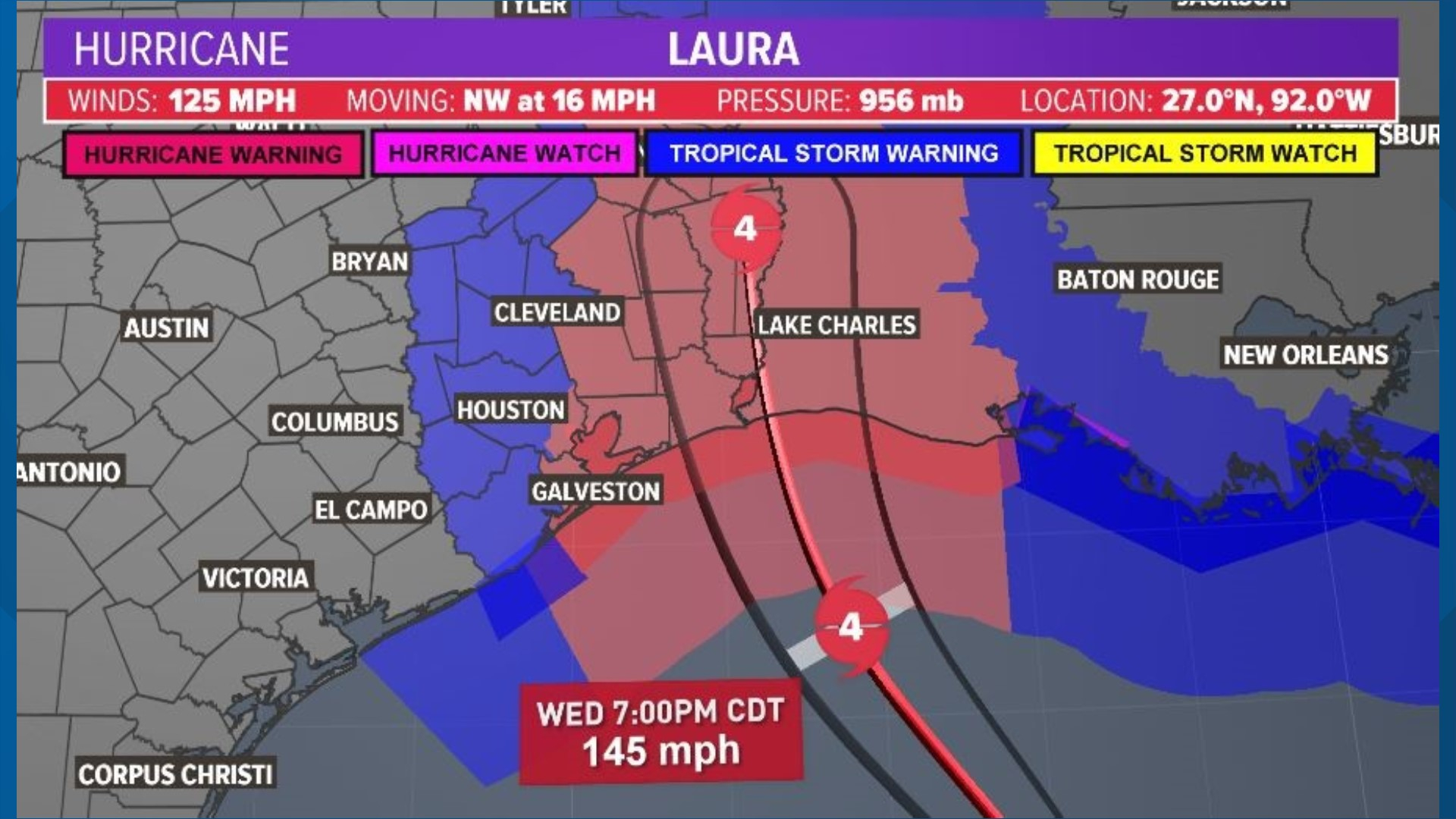 Could Hurricane Laura Shift West And Hit Houston? | Kens5 Intended For Houston Fire Department Shift Calendar 2020