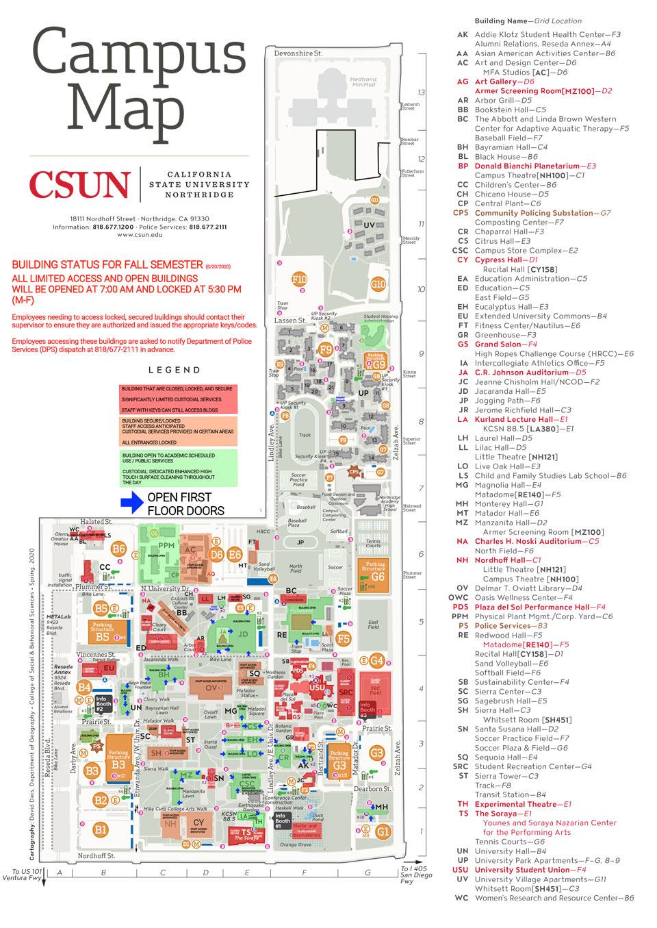 Csun Maps | California State University, Northridge Regarding Cal State Northridge Academic Calendar