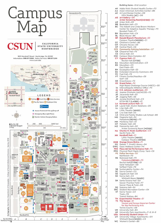 Csun Maps | California State University, Northridge With Cal State Northridge Academic Calendar