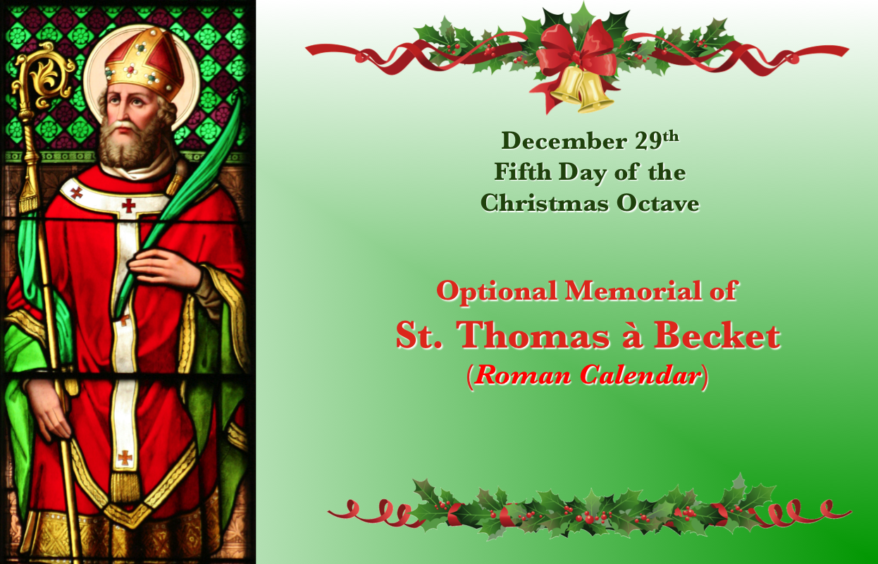 Dec. 29Th, St. Thomas Becket. | Becket, Catholic Feast In How Many Saints In Saint Of The Day Calendar