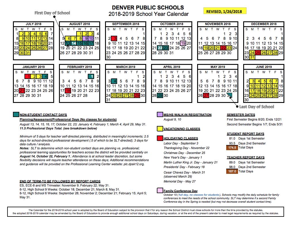 Denver Public Schools Calendar 2020 17 | Calendar Fall 2020 Inside Boyertown School District Calendar 2020 17