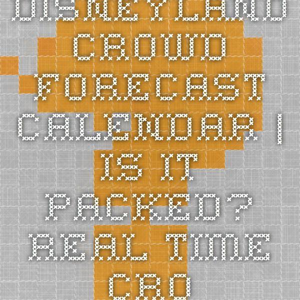 Disneyland Crowd Forecast Calendar | Disneyland Crowds Inside Is It Packed Disneyland Calendar