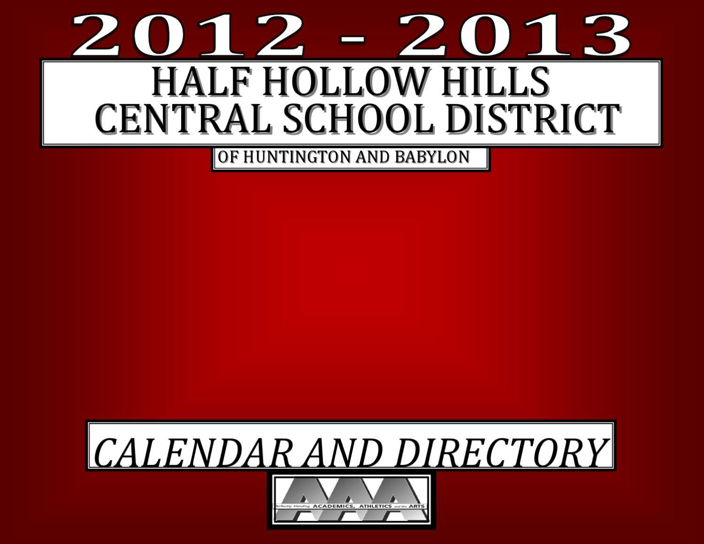 District Calendar 2012Half Hollow Hills Schools – Issuu With Regard To Morgan Hill Distric Instructional Calender