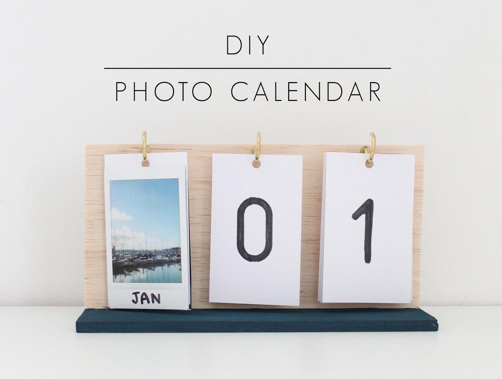 Diy Foto Kalender | Diy Calendar, Diy Gifts, Diy Room Decor In How To Create Countdown 2 Year Calendar Starting In April