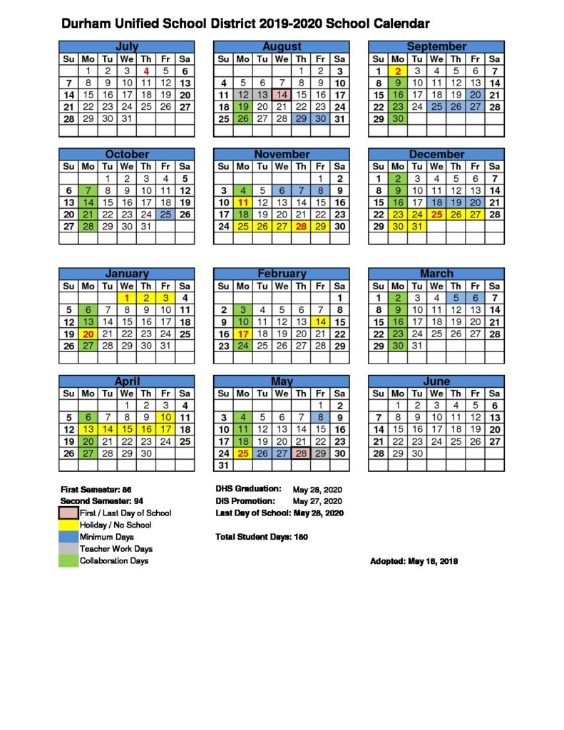 Durham Public Schools 2021 Calendar | Printable Calendar Pertaining To Aiken County School Calendar 2021 2020