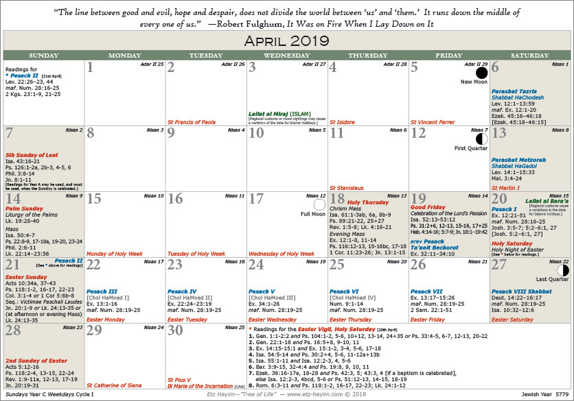 """Etz Hayim—""""Tree Of Life""""   The Jewish And Christian Pertaining To What Year Is It According To Jewish Calendar"""
