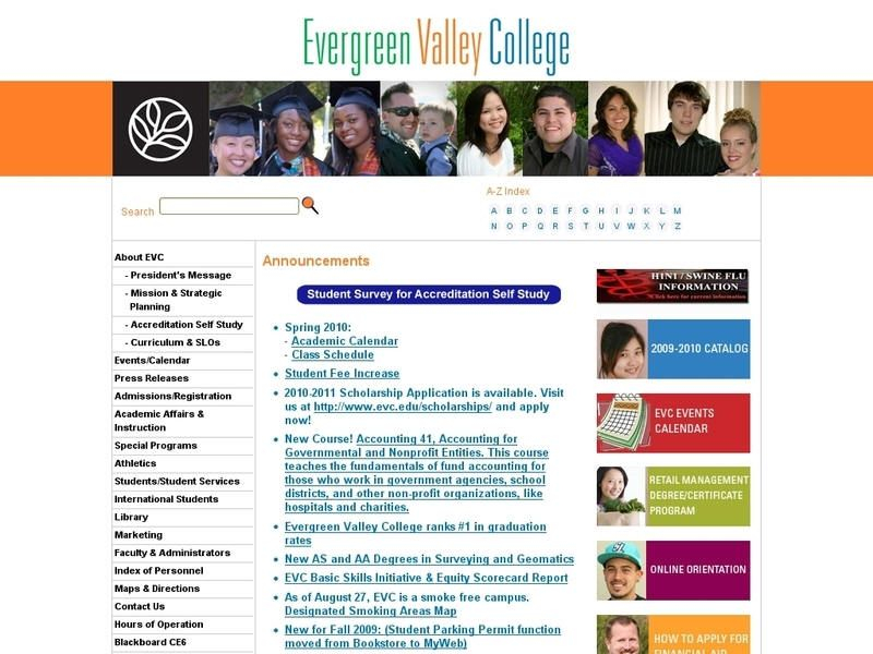 Evergreen Valley College | Valley College, College Pertaining To San Jose University Calendar