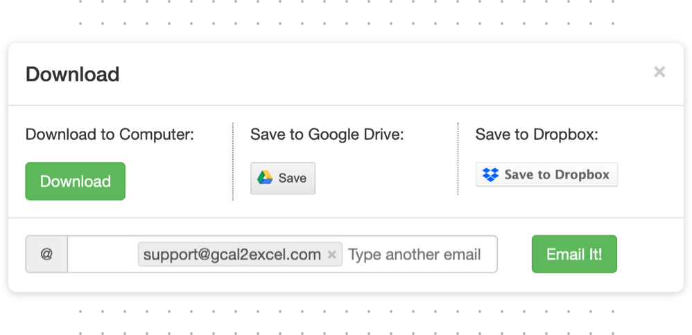 Export Google Calendar To Excel - Gcal2Excel - Timetackle Intended For Merge Outlook Calendar With Google