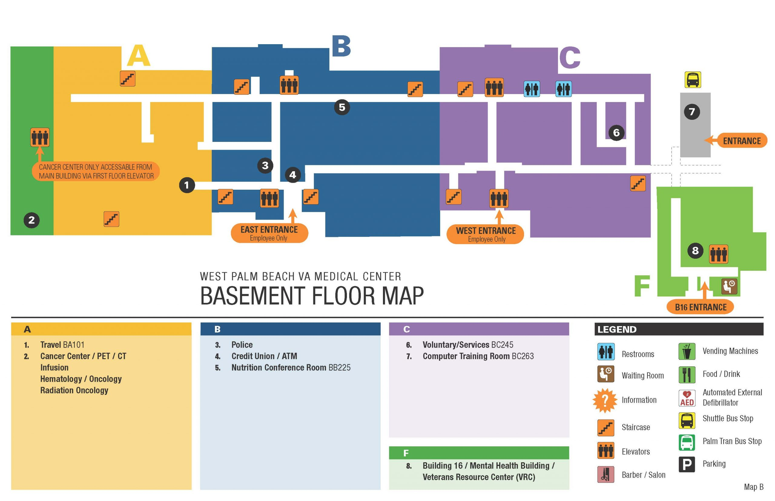 Facility Map – West Palm Beach Va Medical Center Inside Palm Beach State Calendar