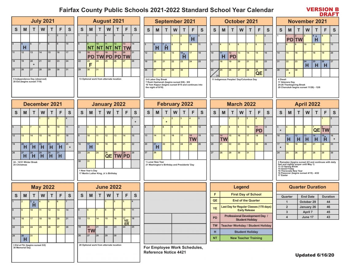 Fairfax County School Board To Add Jewish, Hindu, Muslim Pertaining To Shelby County Al Public School Calendar 2021 2021